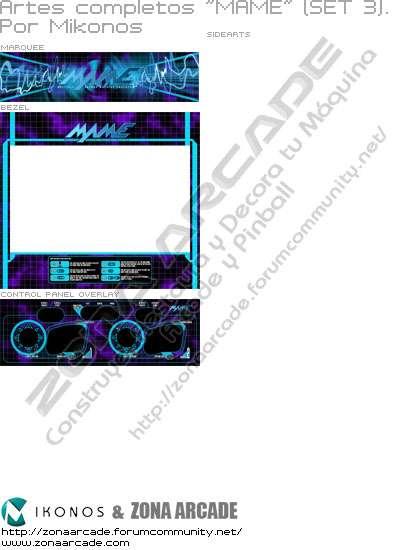 """Artes completos para decorar máquina recreativa """"Mame (set 3)"""""""