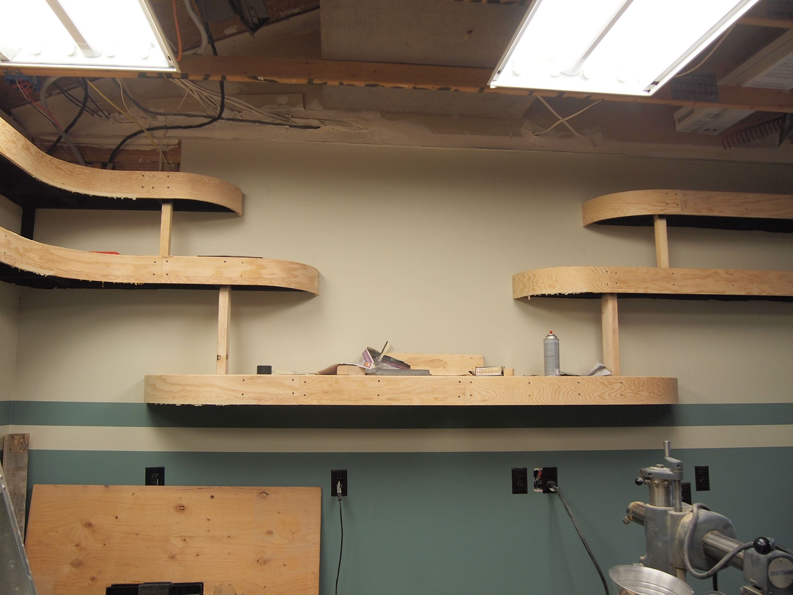 How Cheaply Can Good Shelves Be Made The Garage Journal Board Couple Basic Electric Questions