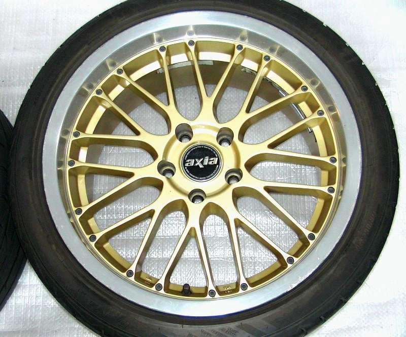 AXIA 18 8.5J 9.5J 5x114 GOLD Alloy RIMS Wheels R32 R33 R34 RX7 L