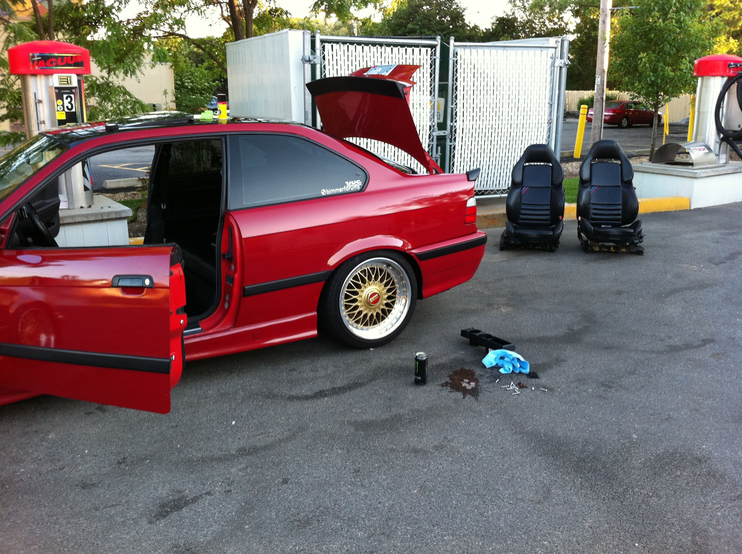 E36 Wtt Gold Polished Bbs Rc090 W New Rubber