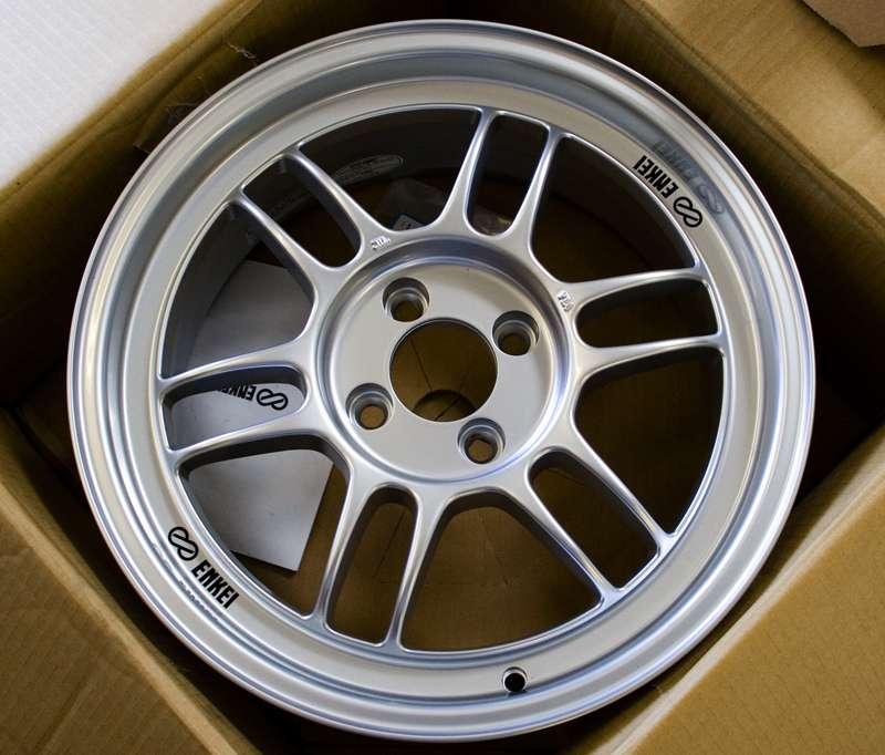 Enkei RPF1's In 15 7.0 Silver Finish 4x100. Honda/Acura